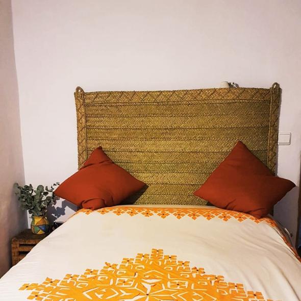 Cabecero de cama de Esparto