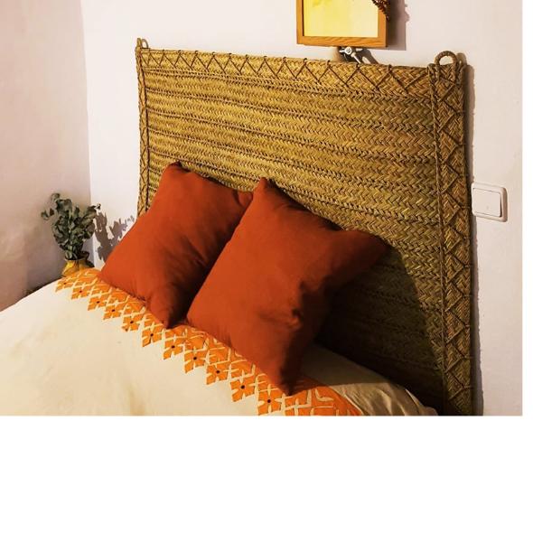 Cabecero de cama de Esparto Natural